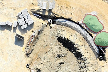 construction drone Terrain and earthworks